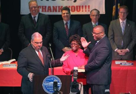 Tito Jackson was sworn in as a Boston city councilor in 2011.